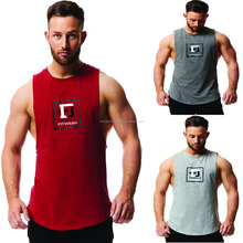2018 Men Fitness Sleeveless Muscle Cotton Gym Tank Tops