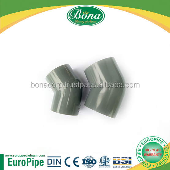 PVC pipe PN6 elbow 45 degree