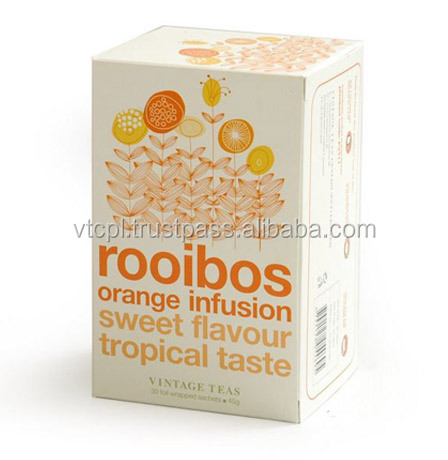 Rooibos orange - Premium quality Rooibos with orange in foil wrapped tea bags