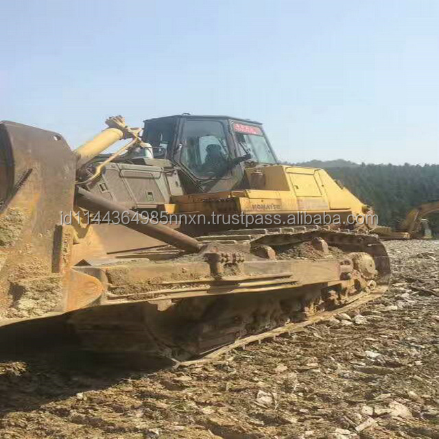 D375A-3 KOMATSU used crawler bulldozer Japan's original bulldozer track chain in shanghai for sell