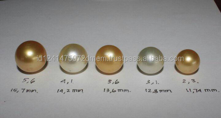 High Quality Loose Golden / White / Silver / Pink / Black Pearls From Indonesia with Cheapest Price