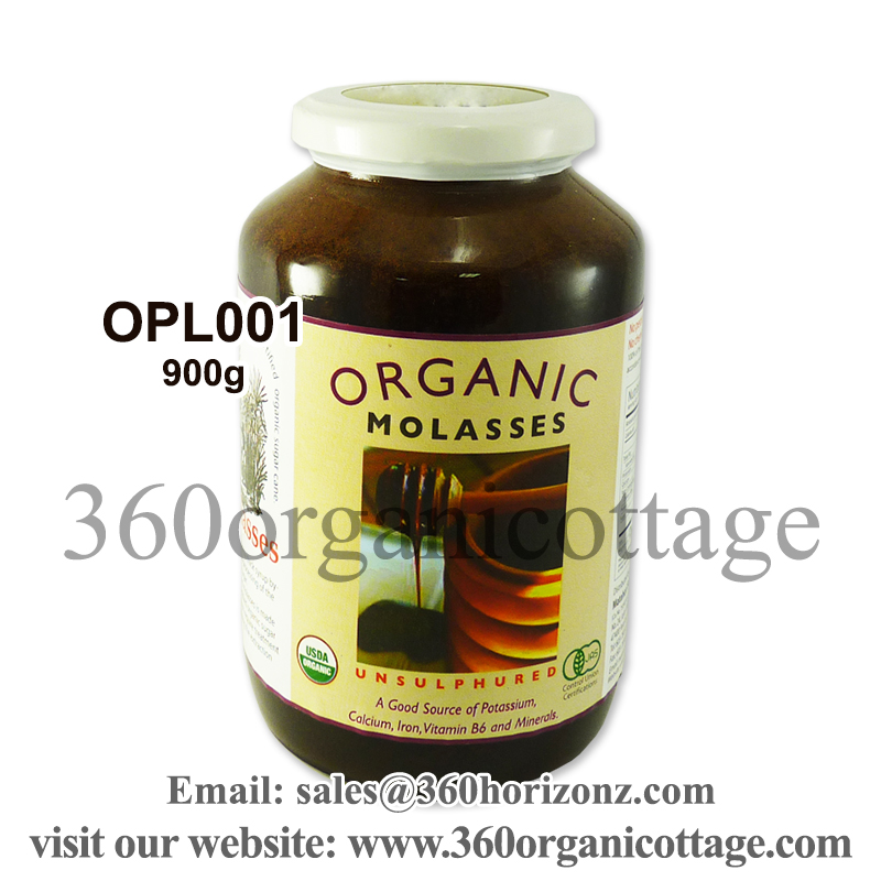 900g 360 Organic Cottage Organic Molasses Blackstrap