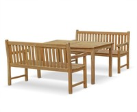 Best Seller Hampton Table and Bench Parts Dining Set - Garden Furniture