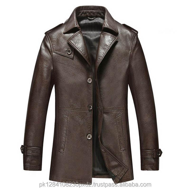 Major laminated polyester suede coat padded men's blazer down collar Slim Fit long coats for male