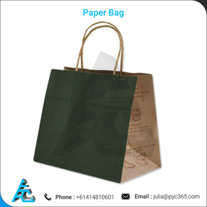 Shopping Paper Packing Bag Custom Print, Paper Bag with Handle