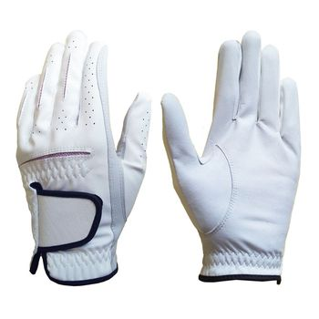 Combination Leather Golf Glove with Good Quality and Grip, Genuine Leather Golf Gloves