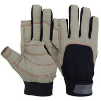 Amara Sailing Gloves 2 Cut Yachting Canoe Fish Dinghy Water Ski Outdoor Mechanic Gloves IM.2271