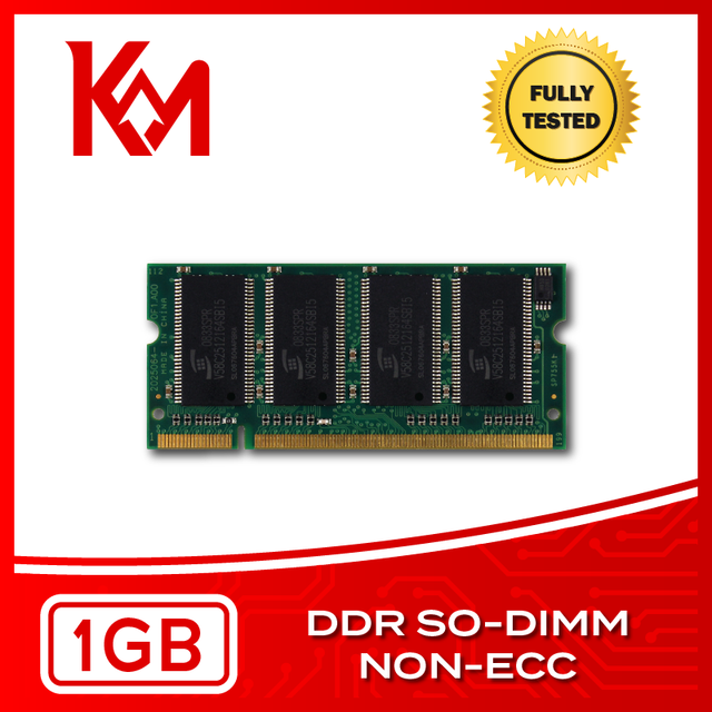 Laptop Memory 1GB DDR NON-ECC SO-DIMM RAM 266MHz, 333MHz, 400MHz