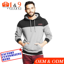 Grey black xxxxl hoodies men hooded sweatshirt manufacturer from Bangladesh