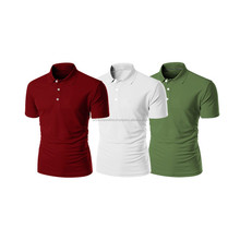 Custom made 100% cotton Striped POLO shirts for men