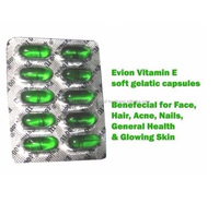 Evion Capsules Vitamin E For Glowing Face,Strong Hair,Acne,Nails, Glowing Skin 400mg