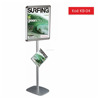 Aluminum Silver Snap Poster Frame Stand with Acrylic Brochure Catalogue Magazine Holder