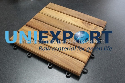 Eco-friendly and duarable interlocking outdoor flooring for sale