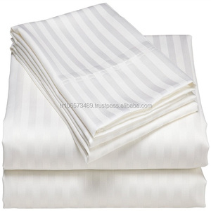 Wholesale 240cm Bleached Plain White Satin 100% Cotton Fabric For Hotel Bedding