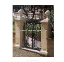 Yellow Entrance Gate Decorative Pillars