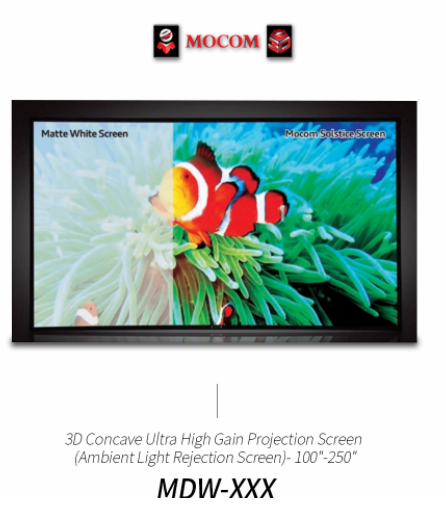 3D Concave Ultra High Gain Projection Screen