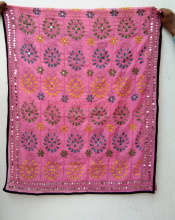 Beautiful multicolor indian hand embroidery phulkari dupattas for women