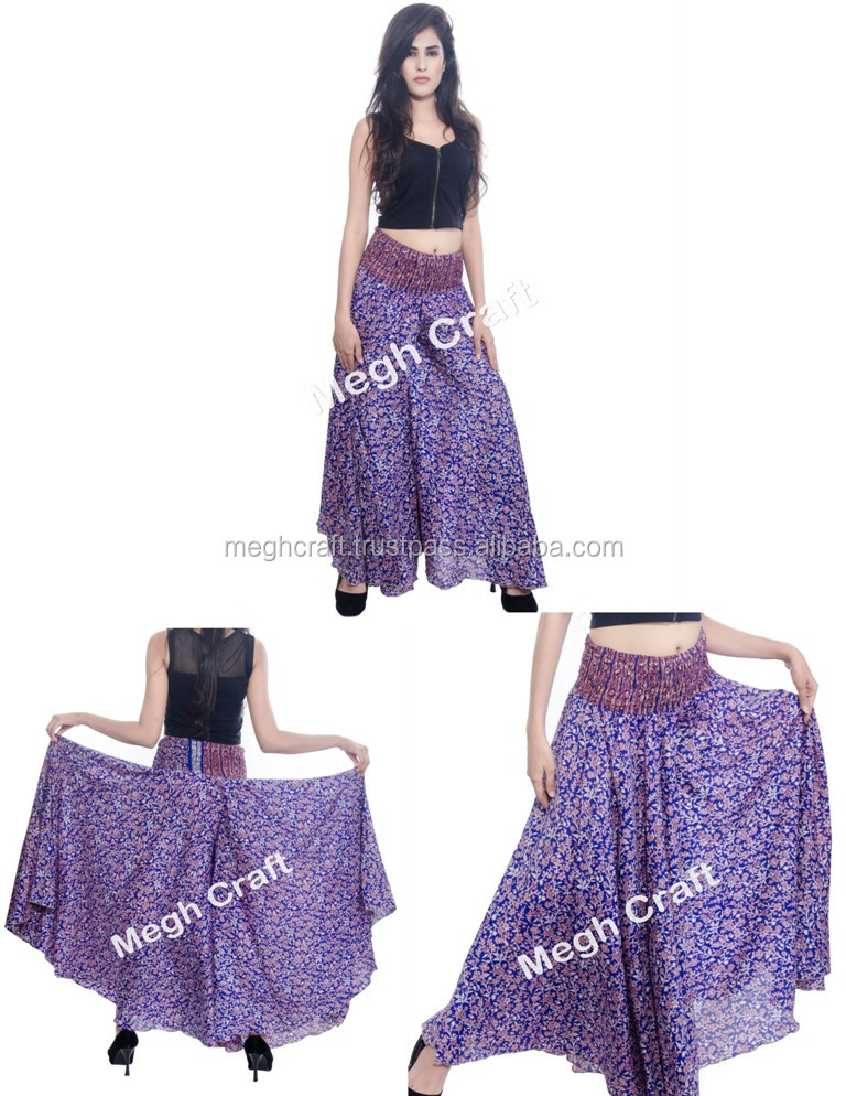 Fashionable Belly Dance Trousers Skirt / Flower Print silk Trouser Skirt/Tribal belly dance Costume trousers pants
