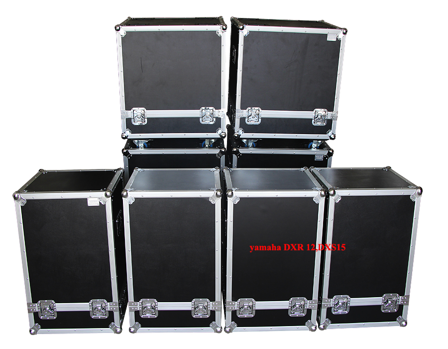 Custom aluminium case for yamaha dxr12, Speaker case with foam