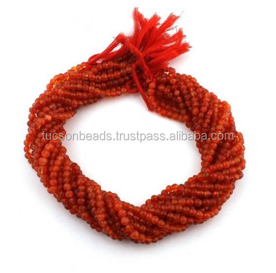 Carnelian Faceted Round Balls Beads