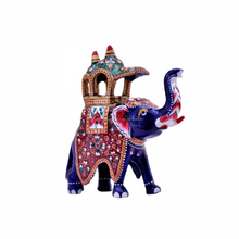 Exclusive hand carved ambawari design metal elephant gift home decor item handicraft