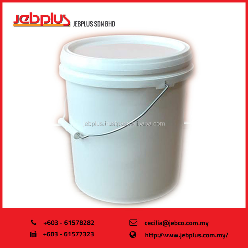 EzyLid Plastic Pail Storage Container with Lid ( 10L / 3 gallon )