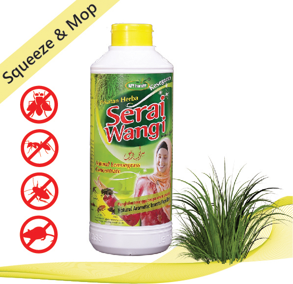Serai Wangi AFY Haniff 900ml Natural Refreshing Liquid Lemongrass Insect Repellent