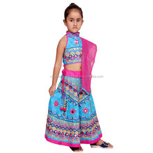 Indian Kids Handmade Mirror Lehenga Choli chaniya choli For Girls Ethnic dress, Traditional dress Girl Dresses Duppta set Ghagra