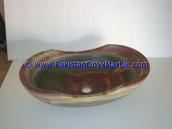 HOT SALE MULTI GREEN ONYX BOAT SHAPED SINKS BASINS COLLECTION