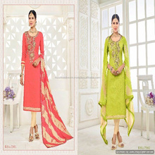 latest ladies punjabi suit hand work in dress design zari salwar kameez
