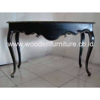 European Style Console Table Antique Reproduction Wood Mahogany Painted French Provincial Classic Living Room Home Furniture