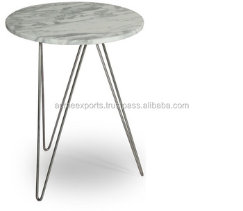 Stainless Steel Wrought Coffee Table | Marble Top Coffee Table