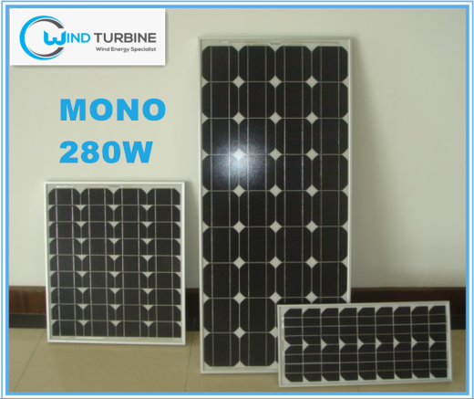 Windturbine Mono 280W solar panels warranty 25 years for home use for solar system