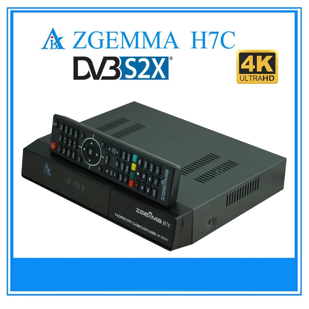 Linux OS Enigma2 Dual Core 4K UHD TV Box & Media Player ZGEMMA H7C With DVB-S2/S2X + 2 x DVB-T2/C Triple Tuners.