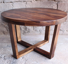 New Solid Round Rose Sheesham Wood Coffee Table Round Cafe Table Indian Furniture