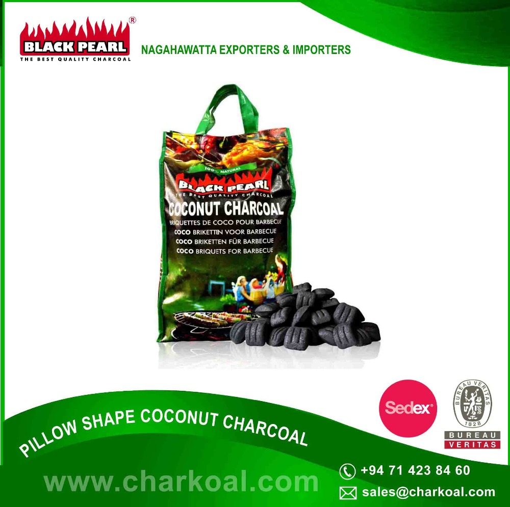 Worldwide Exported Best Quality Coconut Shell Barbecue Charcoal