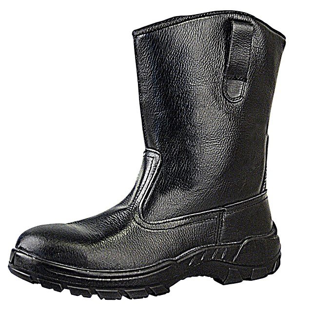 Xenon Slip-on Rigger Boots, black buffalo grain tango leather Protective Footwear Safety Boots