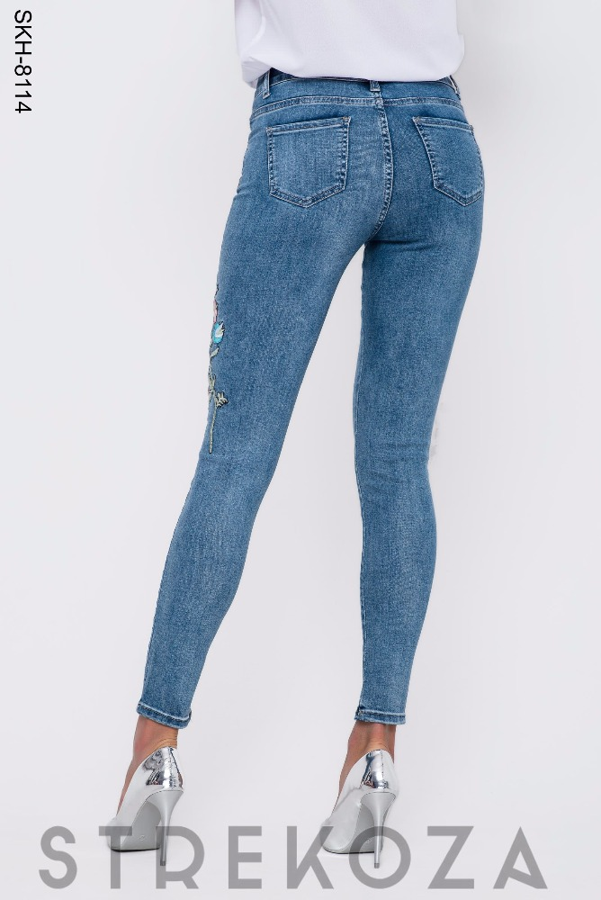 Summer Womens Beautiful Blue Skinny Jeans