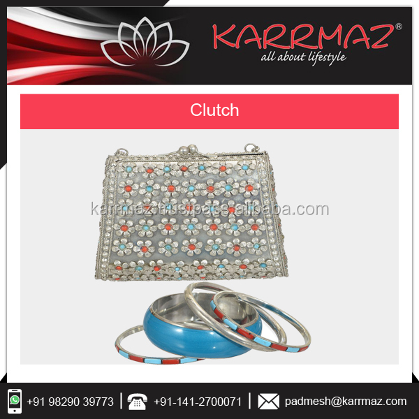Indian Private Label Metal Evening Clutch Bag Manufacturer at Affordable Price