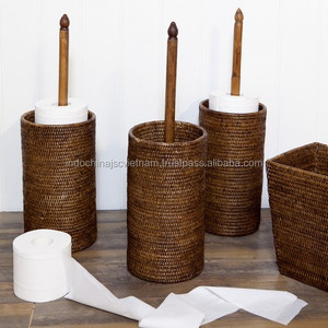 Rattan Roll Toilet Paper Holder