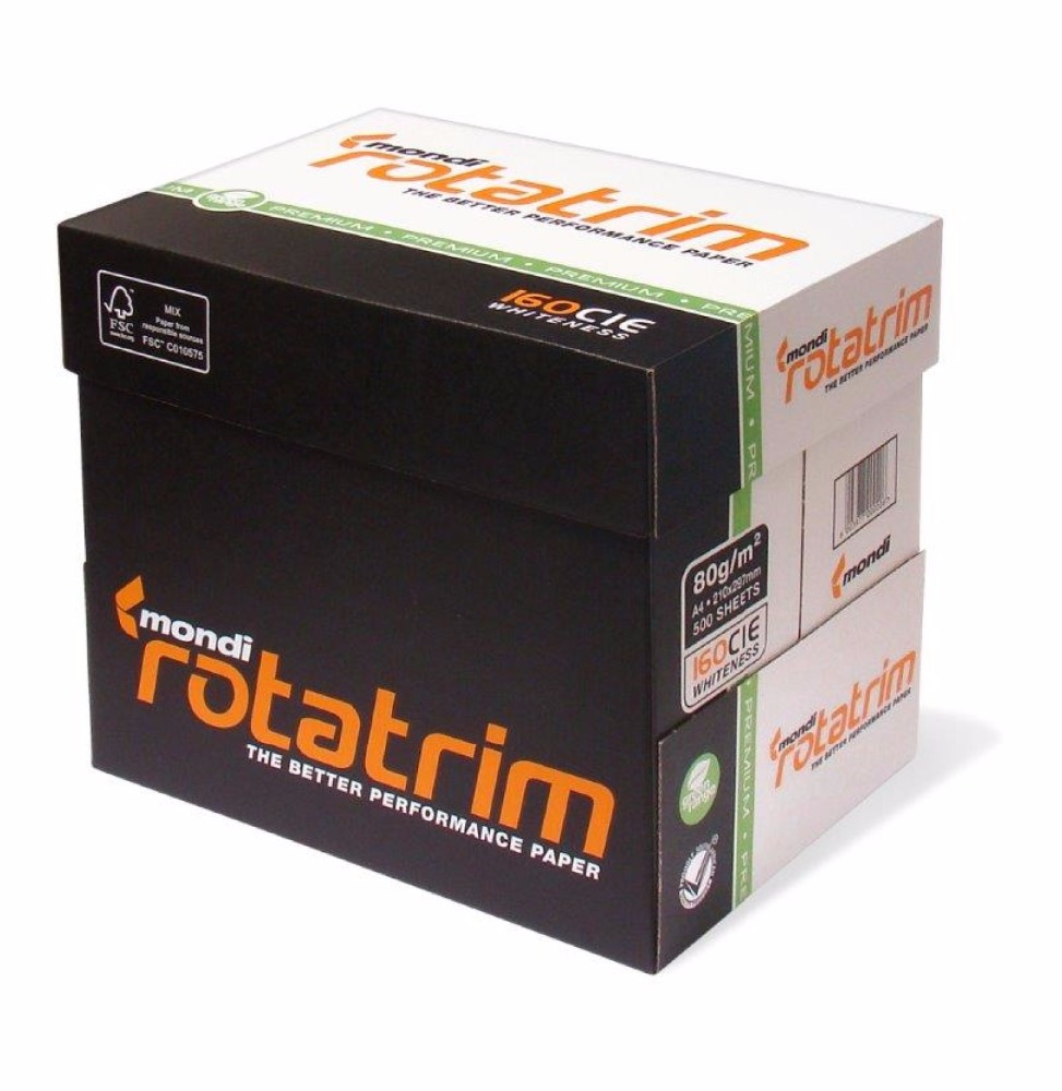 "Mondi Rotatrim A4 Copy Paper ""80gsm/75 gsm/70 gsm for sale"