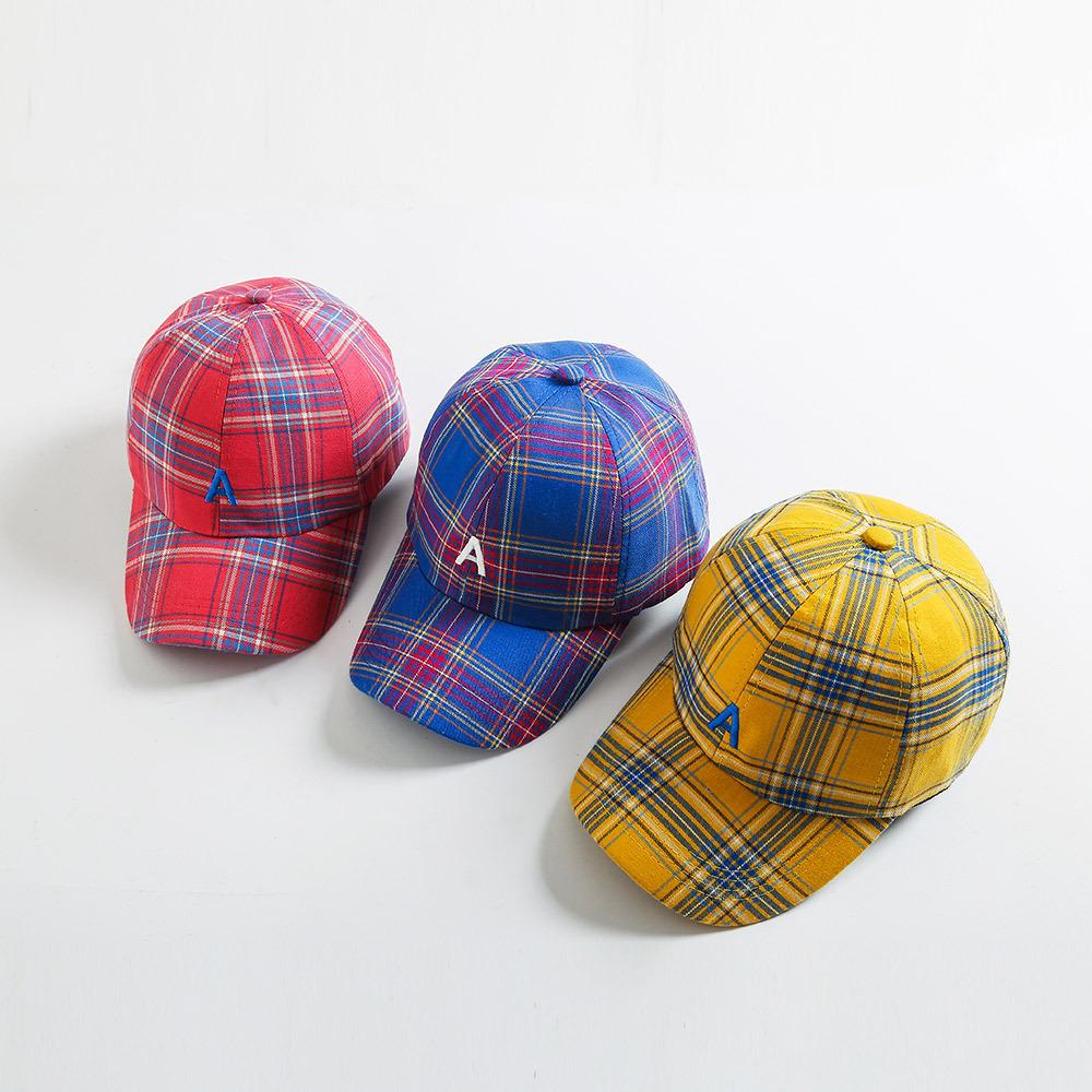 Letter A Plaid Baseball Cap New Fashion Men Women Casual Outdoor Dad Hats Justin Bieber Hip Hop Caps Petten Bone Snapback Hats