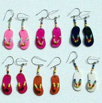 Color Peruvian Drop Earrings Beach Footwear Carved Bone Fashion Jewelry Wholesale
