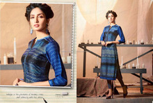georgette latest lady ladies fancy stylish kurti designs