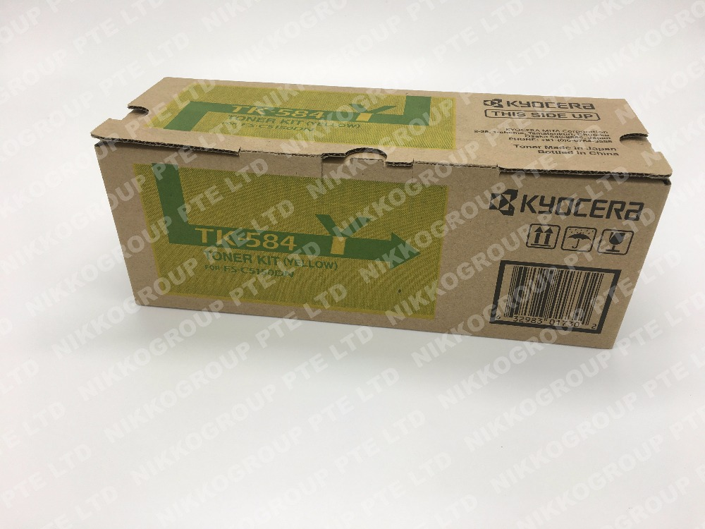 Original Kyocera TK584Y Yellow Toner Cartridge for FSC5150DN,P6021CDN