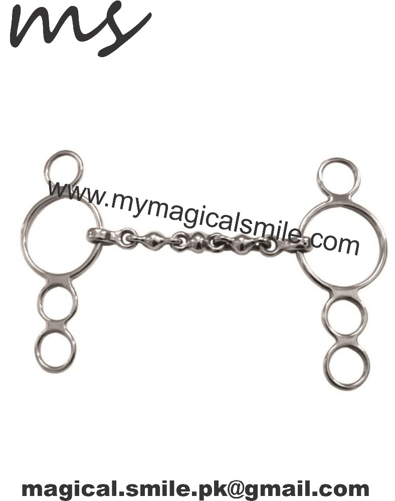 HORSE 4 RING GAG SHIRES DUTCH GAG WITH WATERFORD MOUTH HORSE BITS