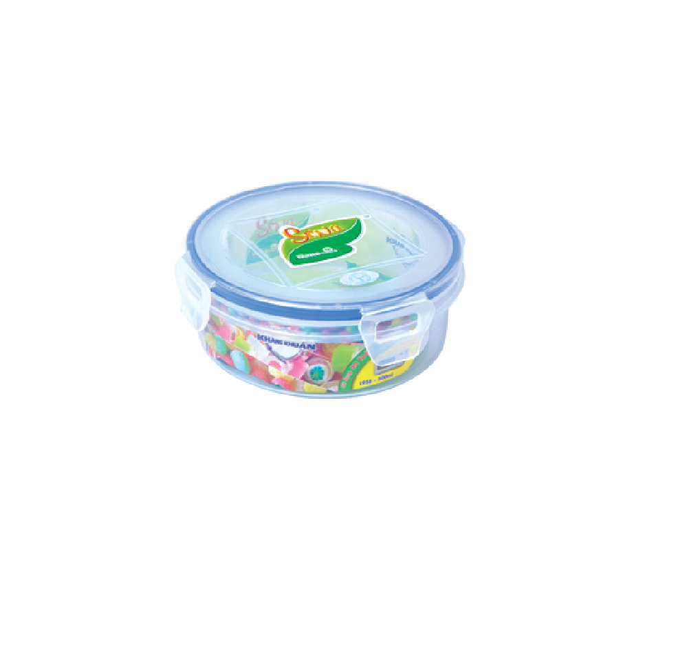 Airtight HOME round plastic food lunch box case storage container