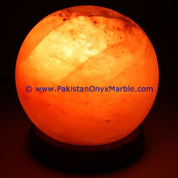 vintage/antique himalayan ionic salt crystal ball lamp