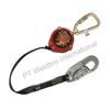 Personal Fall Limiter With Steel Twist- Lock Carabiner & Locking Snap Hook