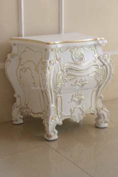 Antique Furniture Indonesia - Rococo Nightstand Mahogany Furniture